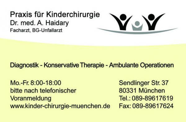 Praxis für Kinderchirurgie Dr. med. Abdulfatah Haidary